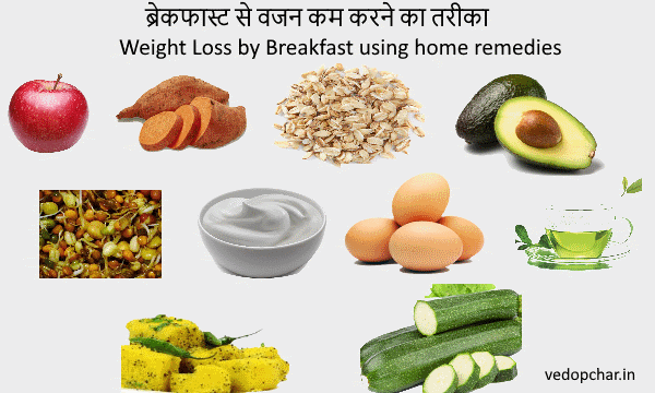 Weight Loss by Breakfast using home remedies