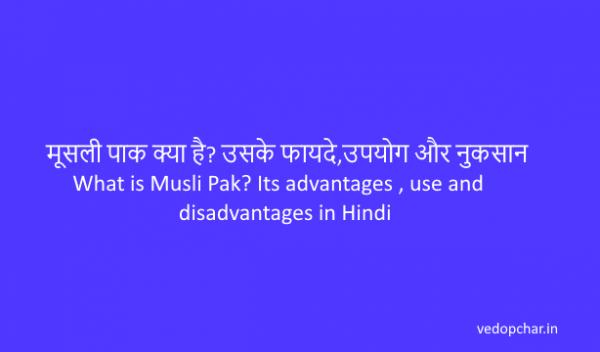 मूसली पाक क्या है? उसके फायदे,उपयोग और नुकसान | What is Musli Pak? Its advantages, use and disadvantages in Hindi
