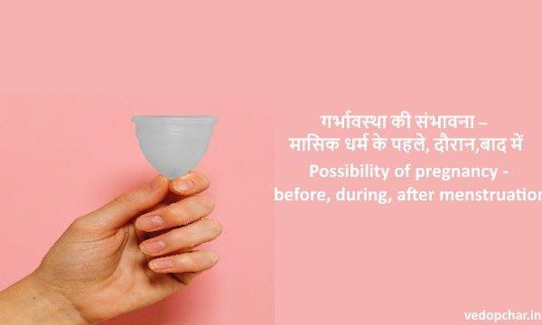 Possibility of pregnancy in hindi -Before,during and after period-गर्भावस्था की संभावना – मासिक धर्म के पहले, दौरान,बाद में