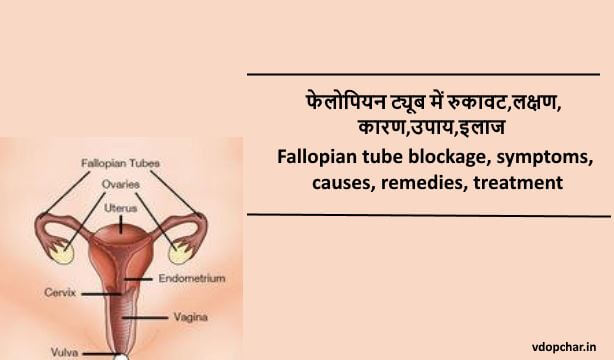 Fallopian tube blockage in hindi