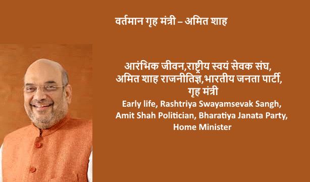 Early life, Rashtriya Swayamsevak Sangh, Amit Shah Politician, Bharatiya Janata Party, Home Minister