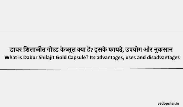 Dabur Shilajit Gold Capsule in Hindi