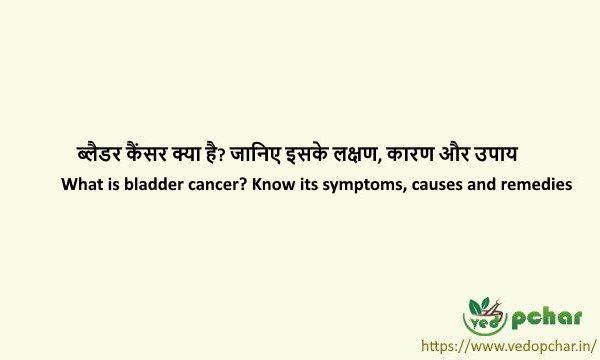 Bladder Cancer in Hindi : ब्लैडर कैंसर क्या है? जानिए इसके लक्षण, कारण और उपाय