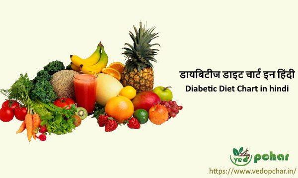 Diabetic Diet Chart in hindi: डायबिटीज डाइट चार्ट इन हिंदी