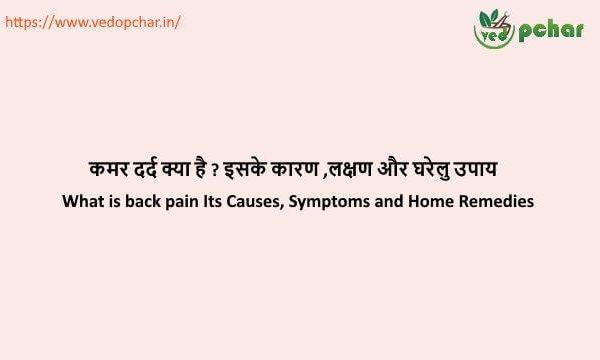 Back Pain in hindi : कमर दर्द क्या है ? इसके कारण ,लक्षण और घरेलु उपाय
